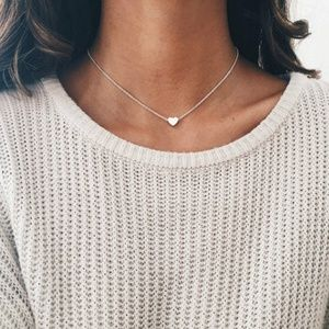 COMING SOON - Dainty Silver Heart Necklace